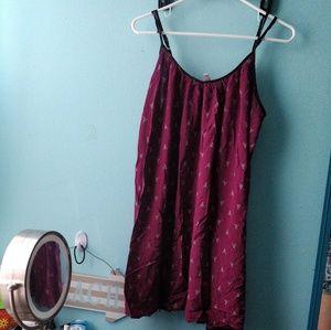 Printed  purple swing dress